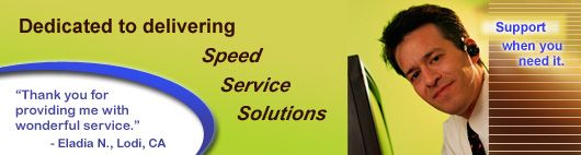 Dedicated to delivering Speed, Service, and Solutions